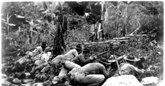 US Marines in Haiti, June 1915, from Ants & Grasshoppers; http://ants-and-grasshoppers.blogspot.nl/2014/03/what-is-history-informative-quiz-on.html
